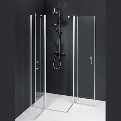 Qualitaetsduschen Saniku-duschkabine Serie Linie Vertikal2